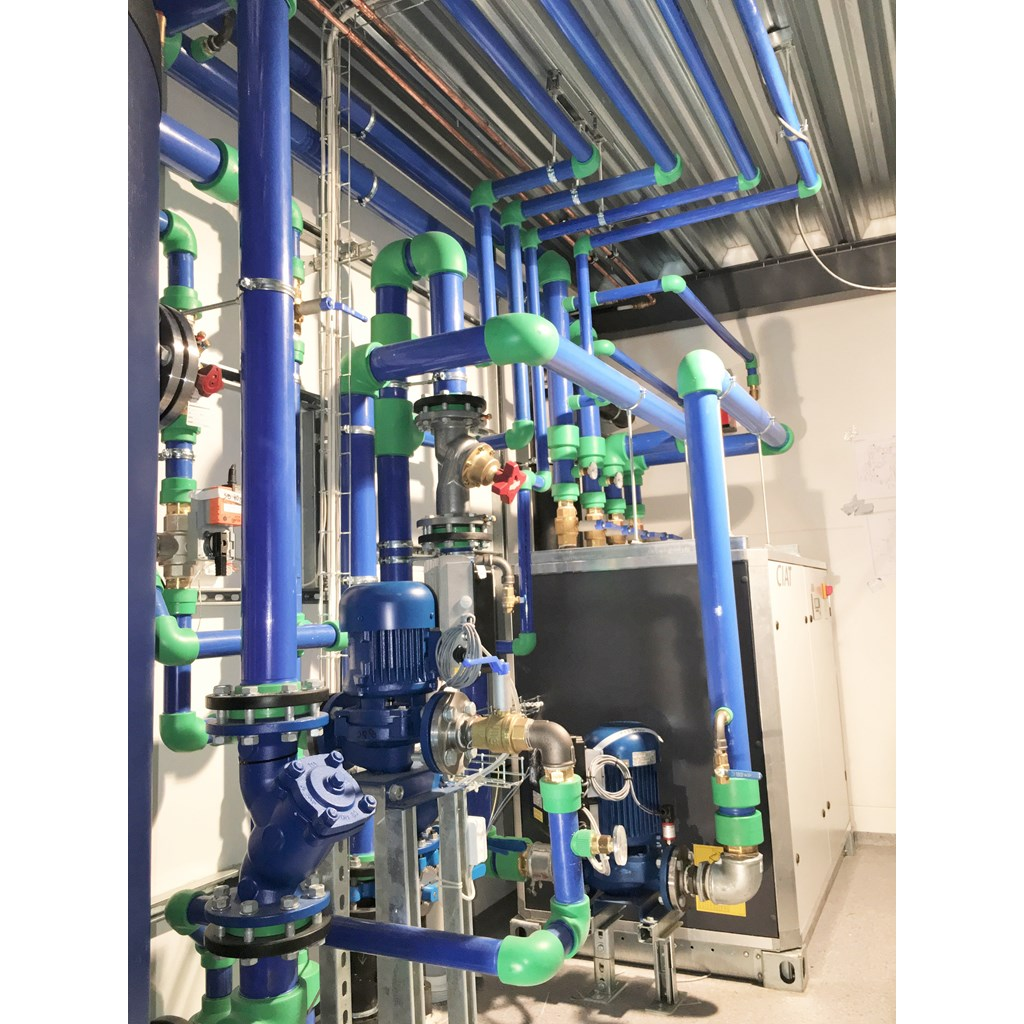 Aquatherm blue pipe